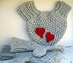 Rukavice - zamilované rukavičky - bledosivé - 4662979_