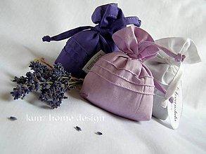 Úžitkový textil - Levandulové vrecúško - 4659498_