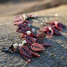 Sady šperkov - Red leaves - 4658970_