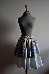 Sukne - Pastelkami vyfarbená loli sukňa - 4662378_