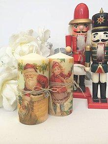 Svietidlá a sviečky - Vianočné duo sviečok - 4658060_