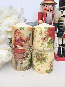 Svietidlá a sviečky - Vianočné duo sviečok - 4658083_