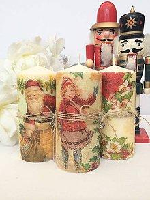 Svietidlá a sviečky - Vianočné trio sviečok - 4658093_