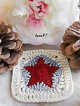 Úžitkový textil - Podložka pod šálku - hviezda - 4664785_