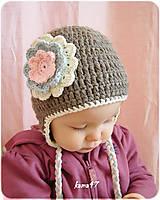 Detské čiapky - Zimná ušianka - PASTEL - 4664918_
