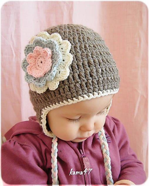 40d7fe747 Zimná ušianka - PASTEL / JeVeAtelier - SAShE.sk - Handmade Detské čiapky