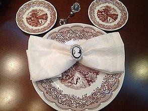 Úžitkový textil - Obrusky ľanové Shabby s obručkami - 4668071_