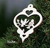 Vianoce - Vianočná dekorácia Guľa s vtáčikmi - 4663464_