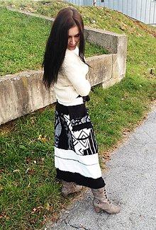 Sukne - lel sukňa black&white - 4667473_