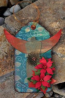 Papiernictvo - Vianočná kartička (tag) ANGEL - 4666337_