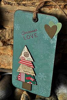 Papiernictvo - Vianočná kartička (tag) CHRISTMAS LOVE - 4666353_