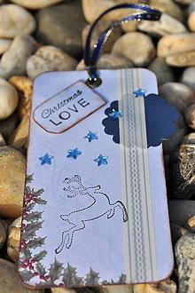 Papiernictvo - Vianočná kartička (tag) - 4666454_
