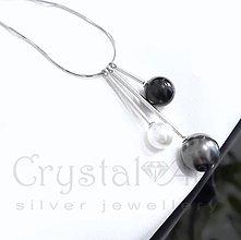Náhrdelníky - Retiazka s perlami /ag925/ - 4664888_