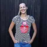 Tričká - Matrioshka (tričko pruhované) - 4663371_