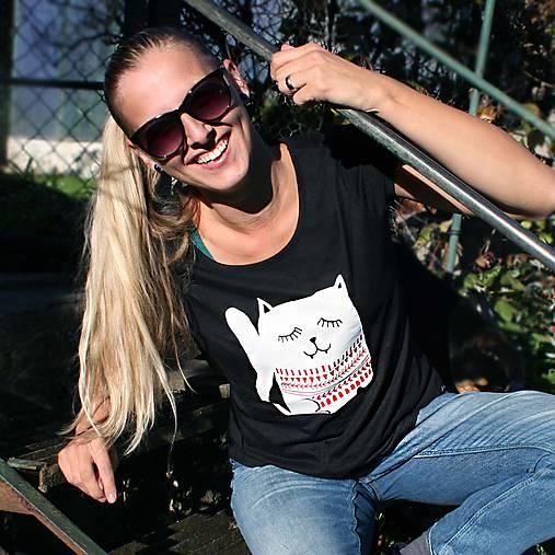 Cat! (tričko s manžetou)