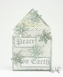 Dekorácie - Vianočný domček - Peace on Earth - 4663449_