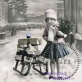 - Sagen Vintage - dievčatko so sánkami - 4665905_