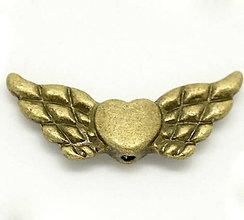 Korálky - Krídielká so srdiečkom - 4667731_