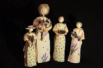 Bábiky - Kolekcia s levanduľou - 4666785_