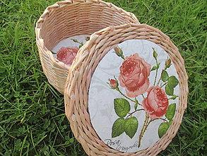 Krabičky - šperkovnica s ružičkou - 4673763_