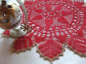 Úžitkový textil - *** háčkované vianočné prestieranie *** - 4673674_