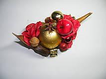Dekorácie - Vianočná dekorácia_ červenozlatá - 4674073_
