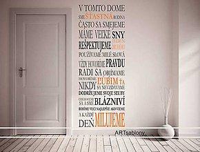 Dekorácie - (3583n) Nálepka na stenu - Domov dvojfarebný - 4671526_