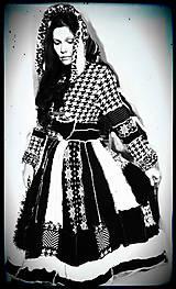 Svetre/Pulóvre - LEL black&white,red-retro III - 4672955_