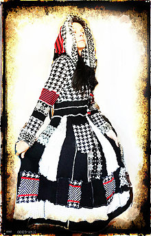 Svetre/Pulóvre - LEL black&white,red-retro III - 4672982_
