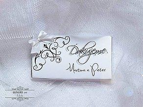 Darčeky pre svadobčanov - Svadobná čokoládka - ĎAKUJEME - 4668829_