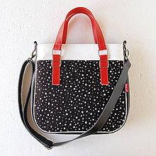 Veľké tašky - Big Sandy - Čierno-červená s bodkami - 4671789_