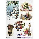 - ryžový papier Vianoce a deti - 4670059_