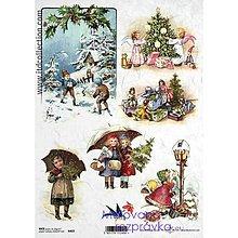 Papier - ryžový papier Vianoce a deti - 4670059_