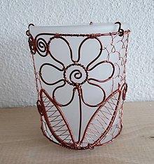 Svietidlá a sviečky - Opletaný svietnik - 4669035_