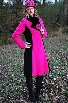 Kabáty - Cyklaménové paleto - 4671287_