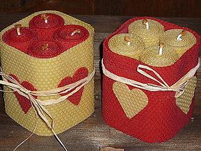 Svietidlá a sviečky - Adventný svietnik z včelieho vosku - 4676963_