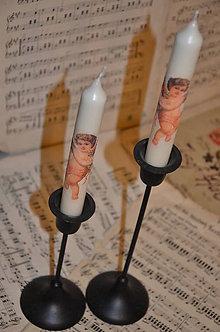 Svietidlá a sviečky - Adventné sviečky s anjelikom - 4679409_