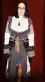Kabáty - LEL hnedo sivý - 4679349_