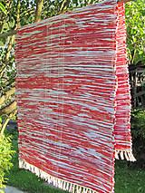 tkaný koberec - červený melír 70 x 150 cm
