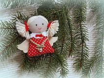 Dekorácie - anjelik -ozdoba na stromček - 4679801_