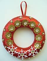Dekorácie - vianočný venček - 4677946_