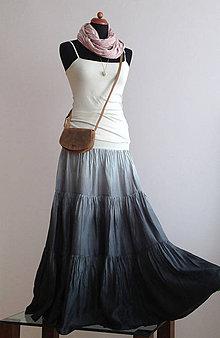 Sukne - Tak trochu nenápadně - hedvábná sukně - 4677699_