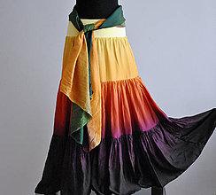 Sukne - Teplý Podzime...dlouhá hedvábná sukně - 4677765_