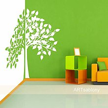 Obrázky - (3584n) Nálepka na stenu - Strom dvojfarebný - 4681059_