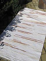 tkaný koberec - biely cca 80x200 cm