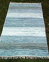 Úžitkový textil - tkaný koberec modrý -,, rifľový,, 80 x 200 cm - 4682989_