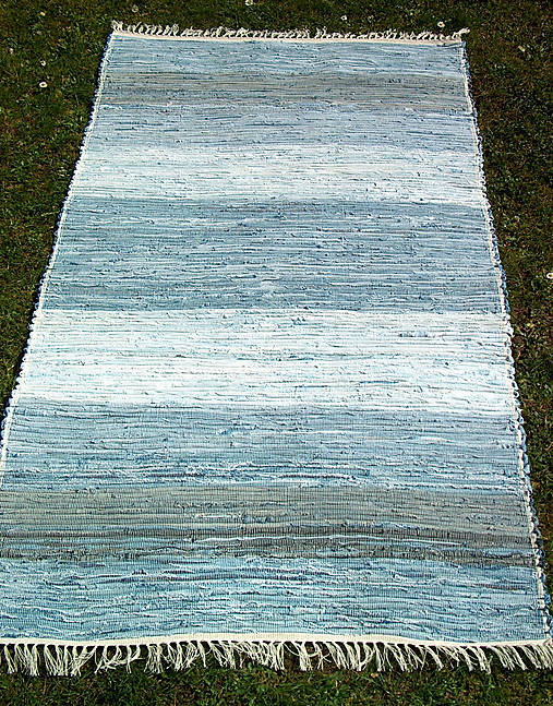 tkaný koberec modrý -,, rifľový,, 80 x 200 cm