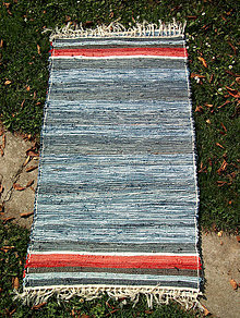 Úžitkový textil - tkaný koberec - rifľový 70 x 140 cm - 4682908_