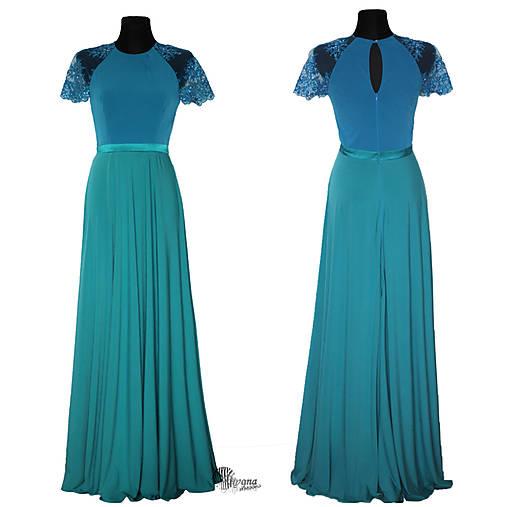 Spoločenské šaty v dvojfarebnej kombinácii z elastického materiálu rôzne  farby 97f38f42f5