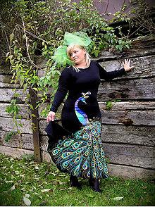 Šaty - Maľba páva... - 4682671_